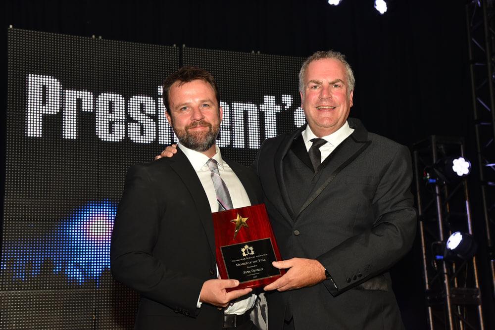 Steve Deveaux OHBA 2017 Member of the Year Award ceremony