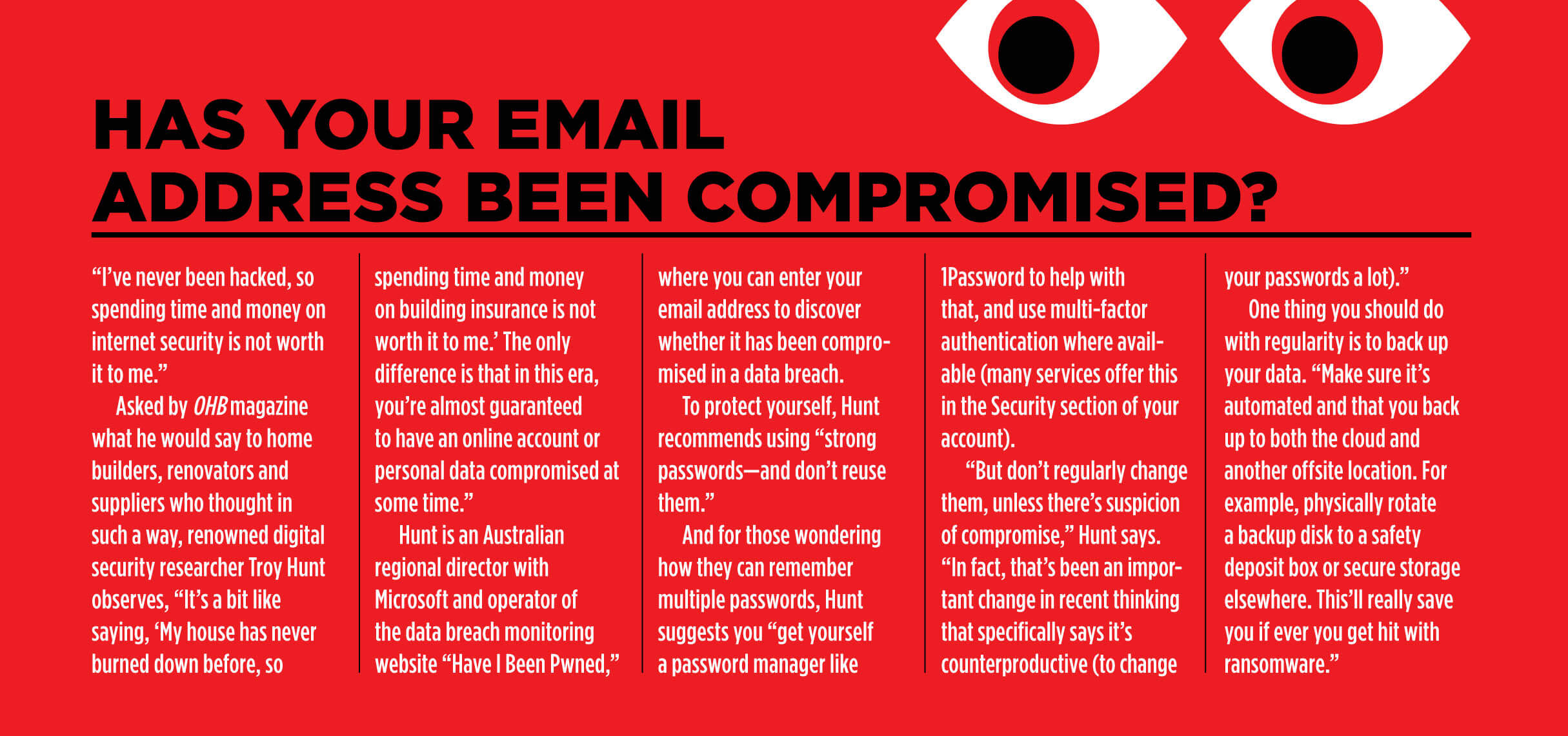 Compromised email addresses lead to computer security problems and network hacking