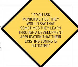 Development applications can show outdated zoning